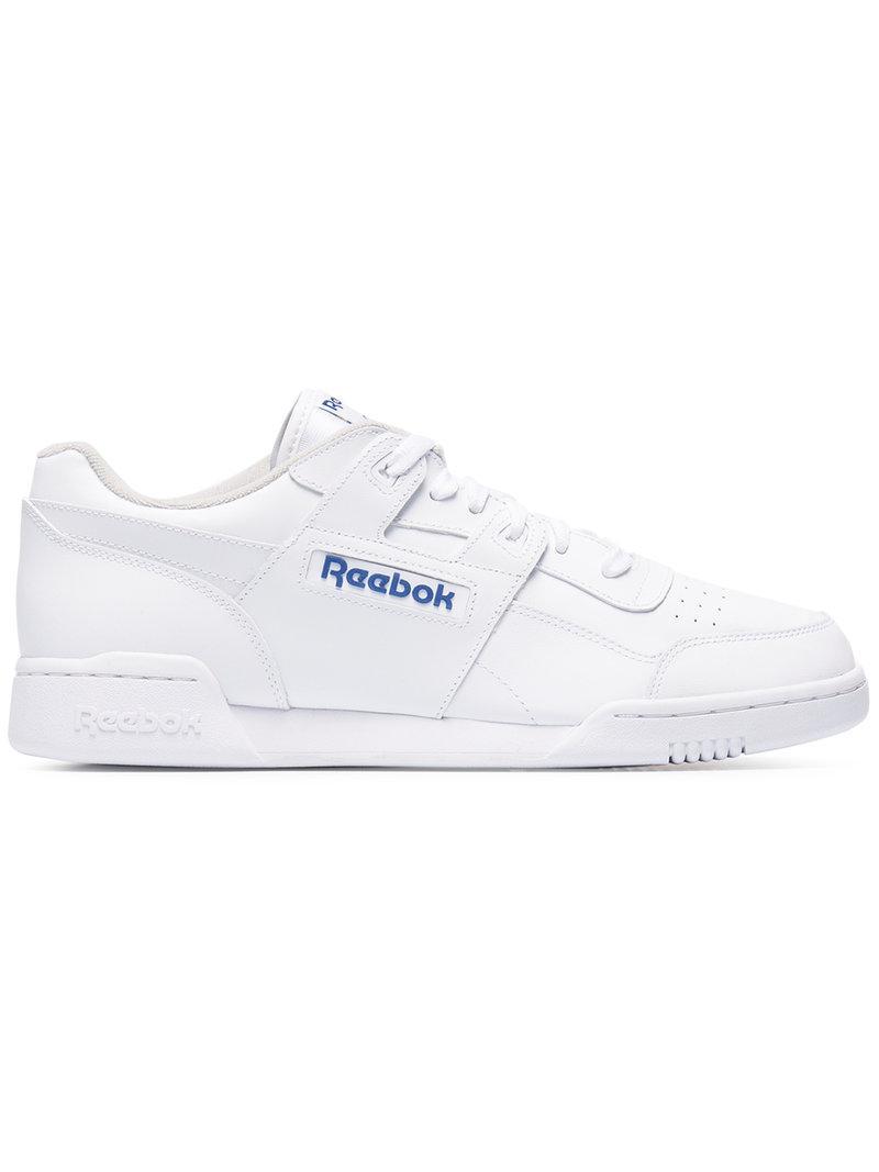 Reebok - White Workout Plus Low-top Sneakers for Men - Lyst. View fullscreen a8b85f3af