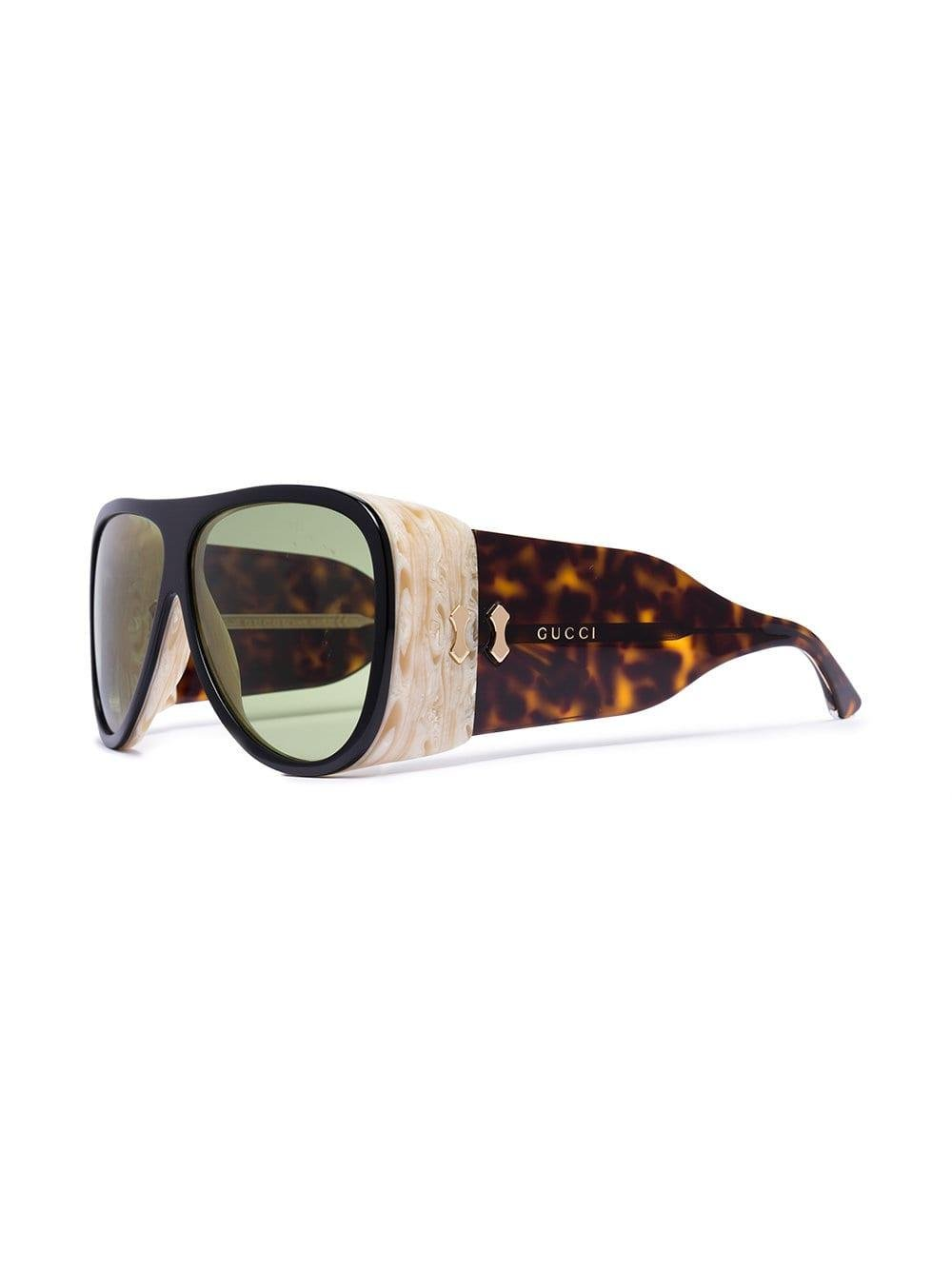 f52d7bfd394 Lyst - Gucci Brown Acetate Sunglasses in Black for Men - Save 2%