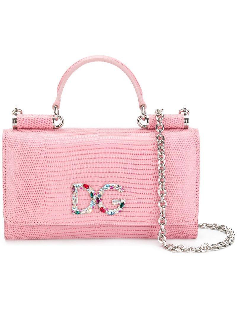 eeadeac2064e Dolce   Gabbana Mini Von Wallet Crossbody Bag in Pink - Lyst