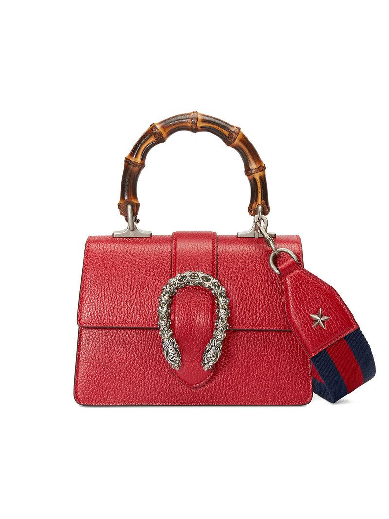 88c6e96b9ba Gucci Dionysus Mini Top Handle Bag in Red - Lyst