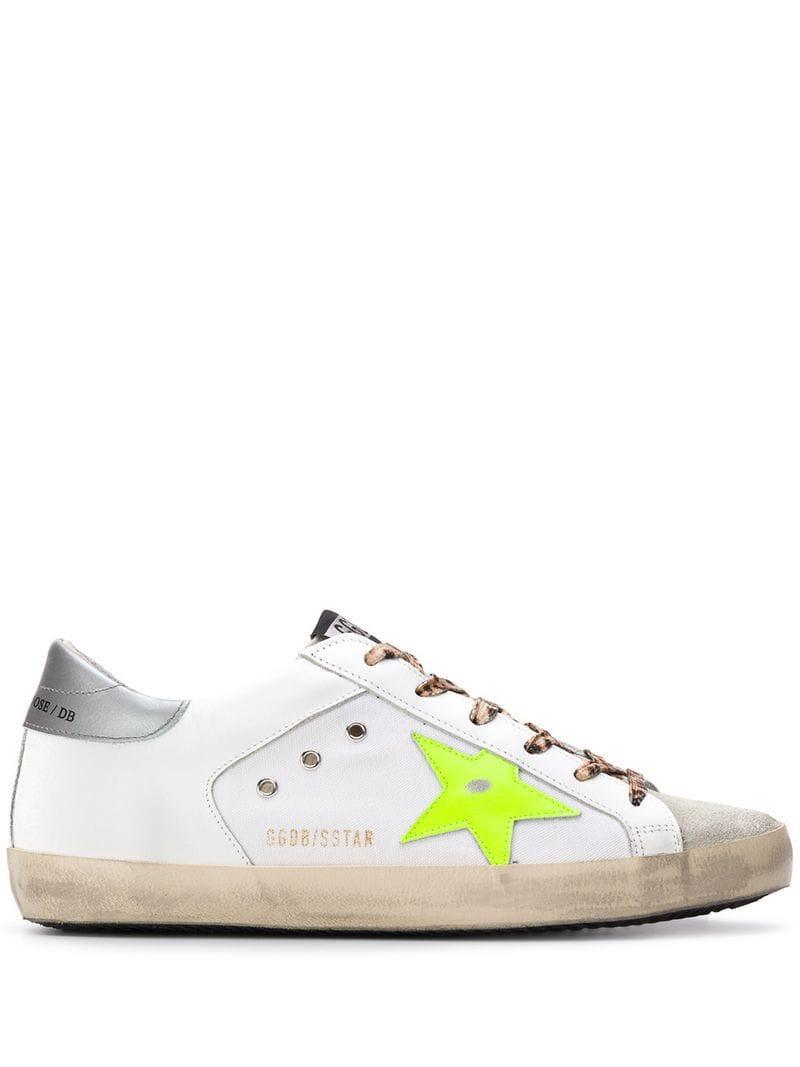 c4aa94c5d8cf2 Golden Goose Deluxe Brand. Women s White Superstar Leopard Print Lace-up  Sneakers