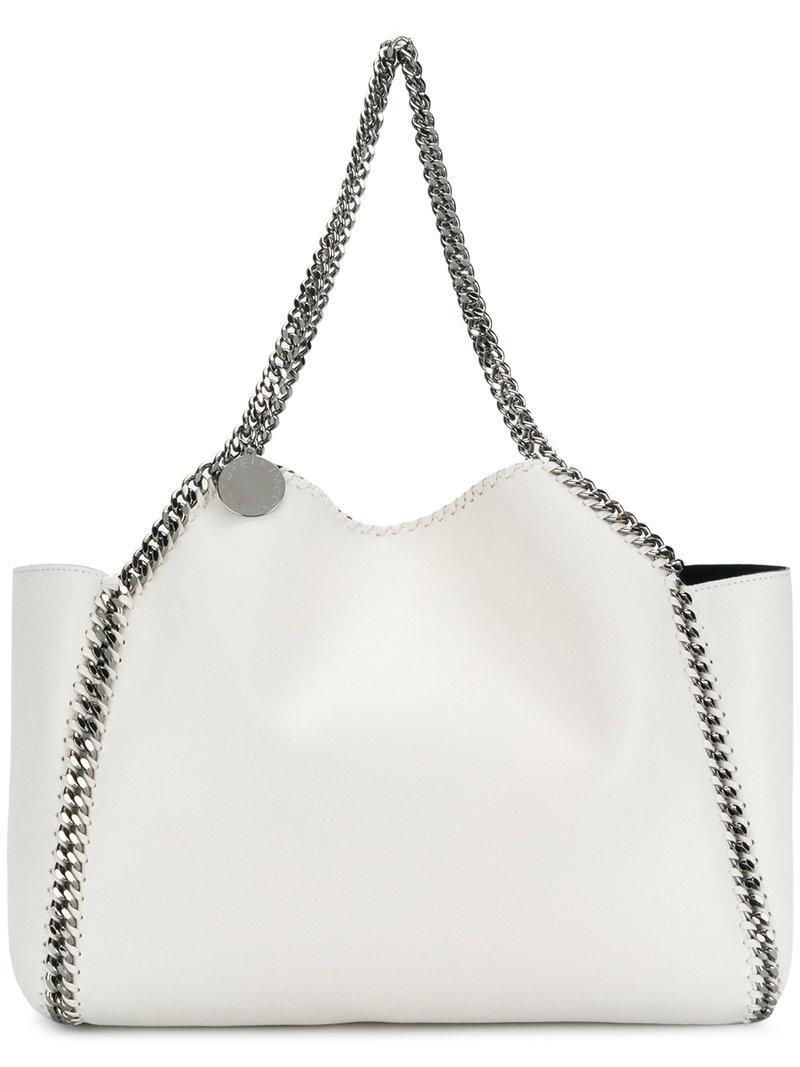 a90f0b810d36 Stella McCartney Falabella Reversible Tote Bag in White - Lyst