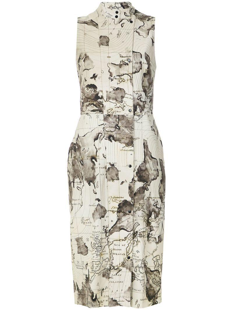 Andrea Marques Women S Maps Print Shift Dress