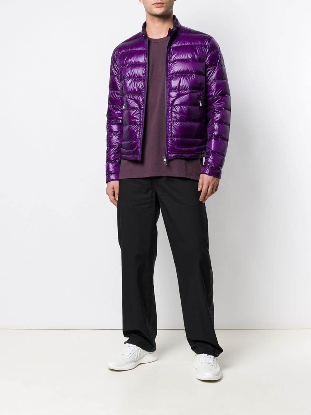 27fb88227 Lyst - Moncler Acorus Padded Jacket in Purple for Men