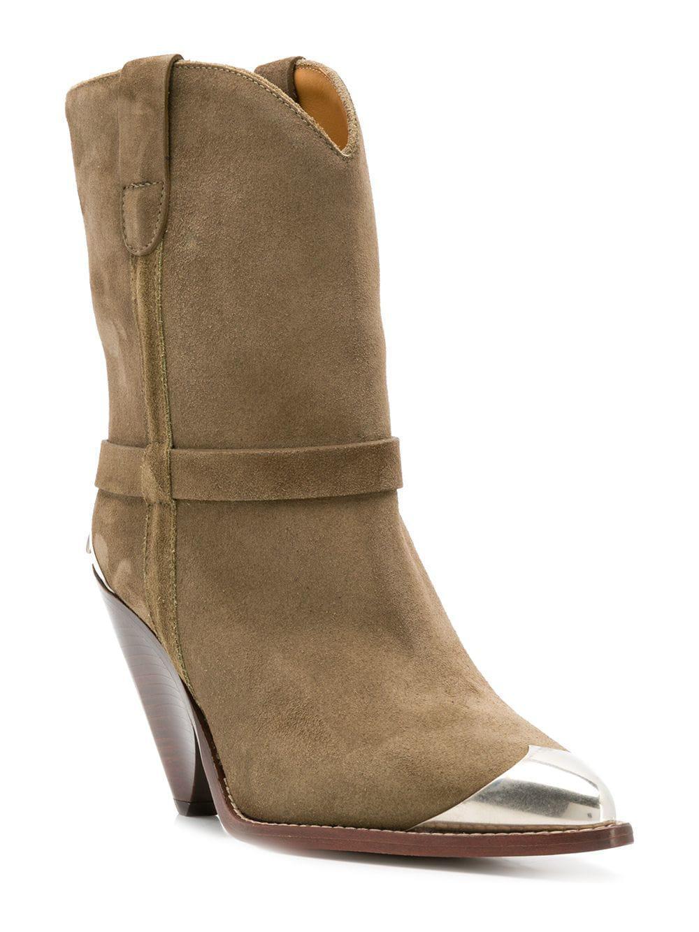51de0eed19c Lyst - Isabel Marant Lambsy Boots