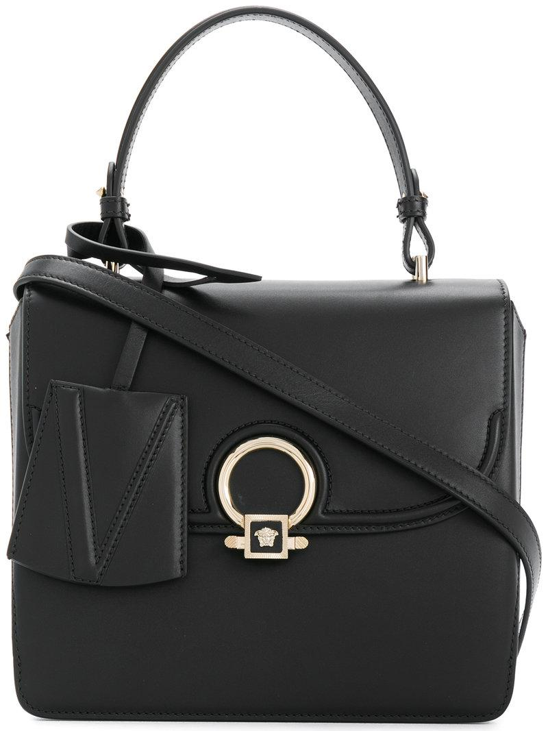 53ef2b2ce77c Versace Medusa Tote Bag in Black - Lyst