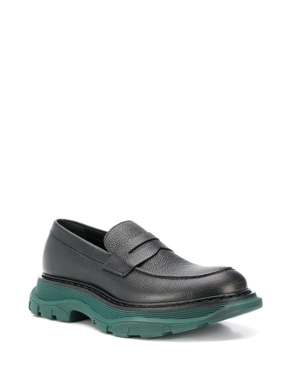 6f773633a95f5 Alexander McQueen - Black Thread Loafers for Men - Lyst. View fullscreen
