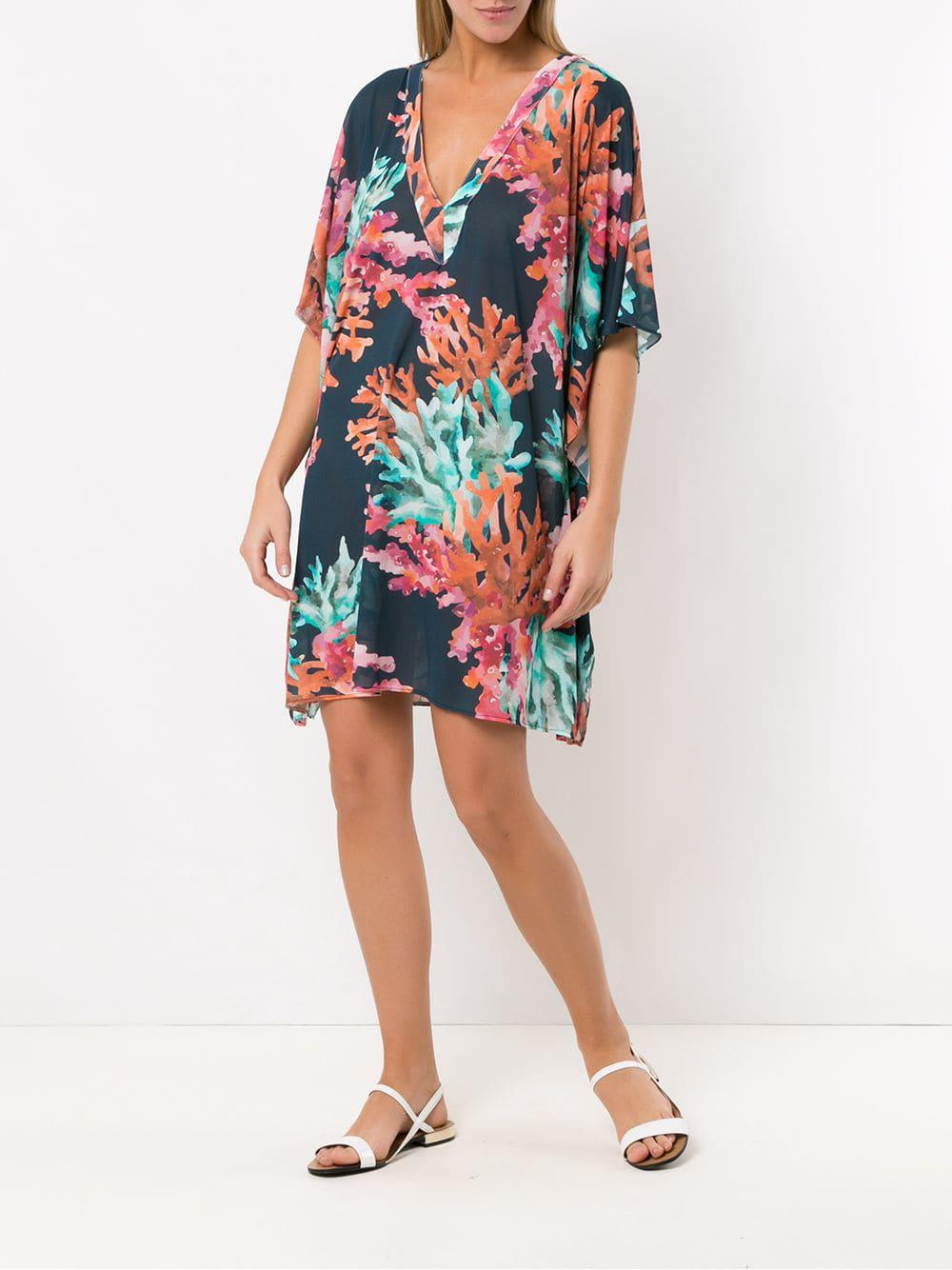 6b442cfd91 Brigitte Bardot Printed Beach Dress - Lyst