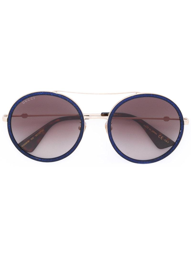 3a23fdf7626 Gucci blue round frame metal sunglasses view fullscreen jpg 800x1067 Gucci  round frame metal sunglasses