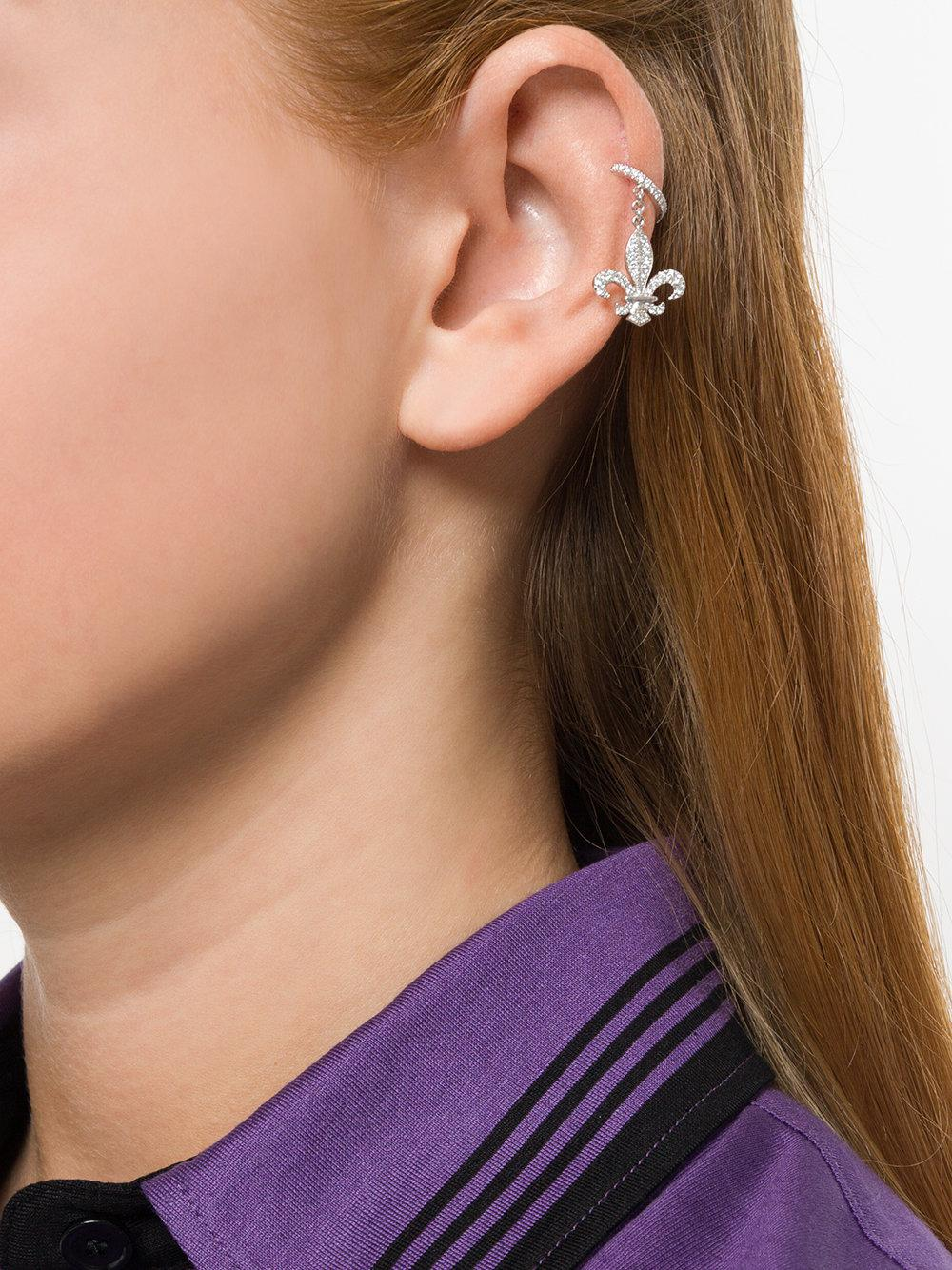 Elise Dray crown cuff drop-earring - Metallic pt7i5hyu