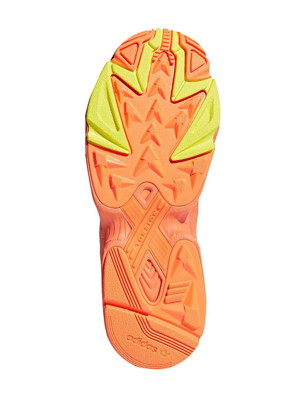 super popular 9a124 95fdb Lyst - adidas Orange, Blue And Neon Yellow Yung 1 Suede Leather And ...