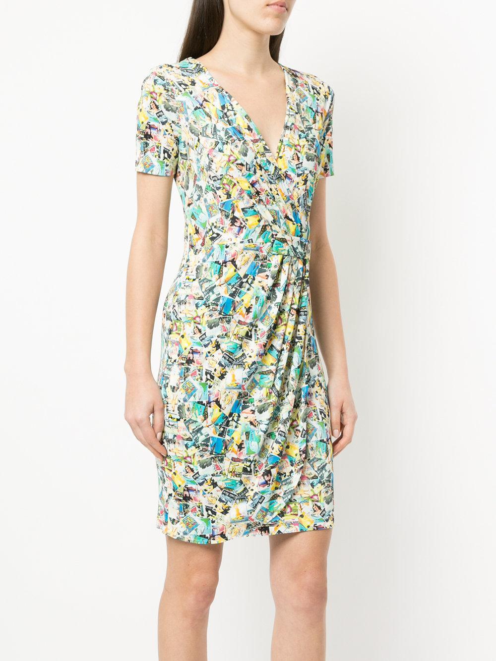 printed draped mini dress - Multicolour Ultra Chic pVqBCu