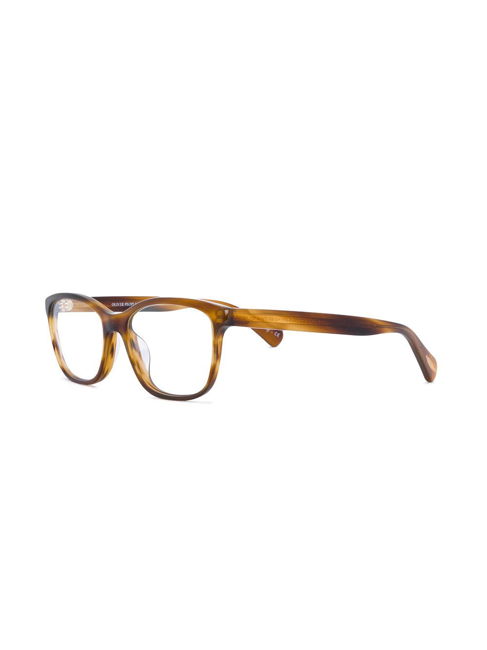 02df7cbd5f Lyst - Oliver Peoples Follies Glasses in Brown