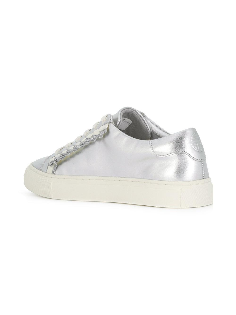 aa671eba9 Lyst - Tory Burch Ruffle Sneakers in Metallic