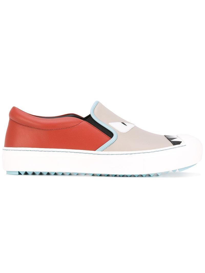 Slip-on Embelli Fendi Chaussures De Sport - Multicolor XZguIZKg