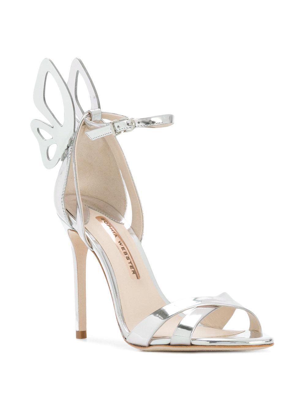07fcccf5615 Lyst - Sophia Webster Butterfly Detail Sandals in Metallic