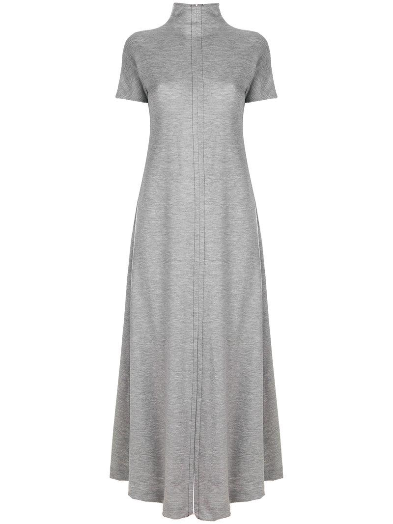 belt-wrap long flared dress - Grey Maison Martin Margiela Supply Sale Online 7Ku1x