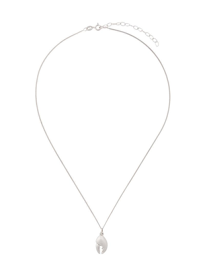 True Rocks Crab Claw necklace - Metallic 6tZfxNCzv