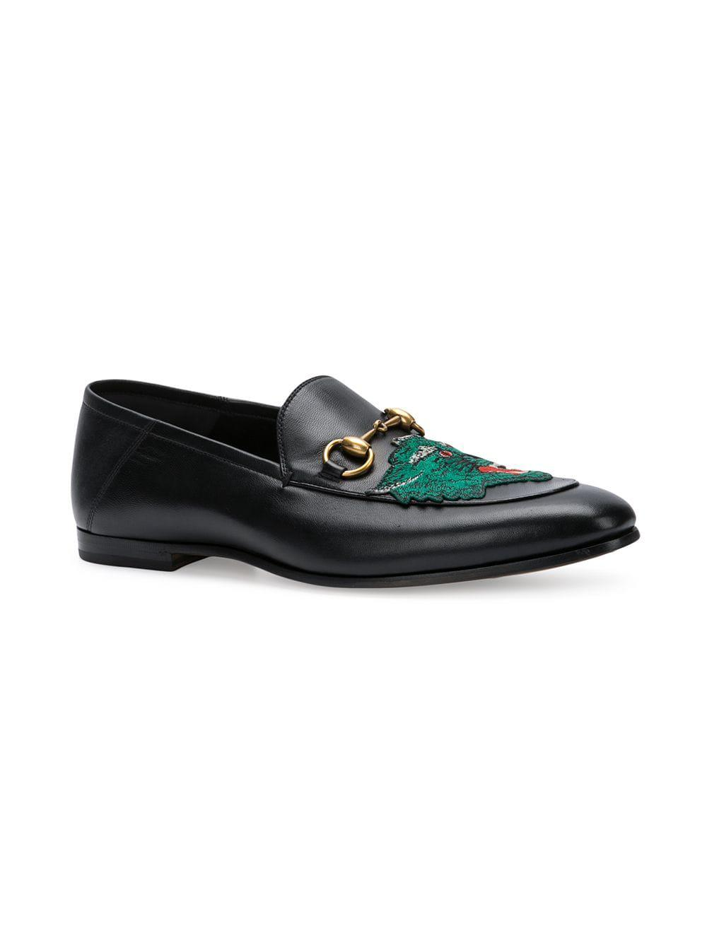 dd9bf8afd96 Gucci Panther Face Loafers in Black for Men - Lyst