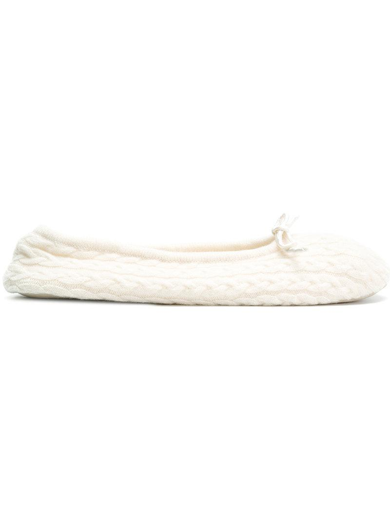 cable slippers - Grey N.Peal Iv3E2umx