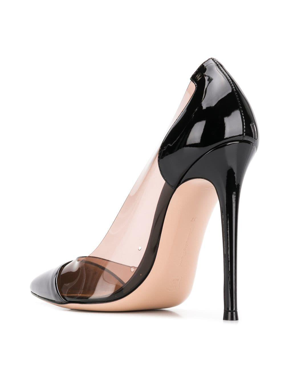8da8241de1e Gianvito Rossi - Black Plexi Pumps - Lyst. View fullscreen