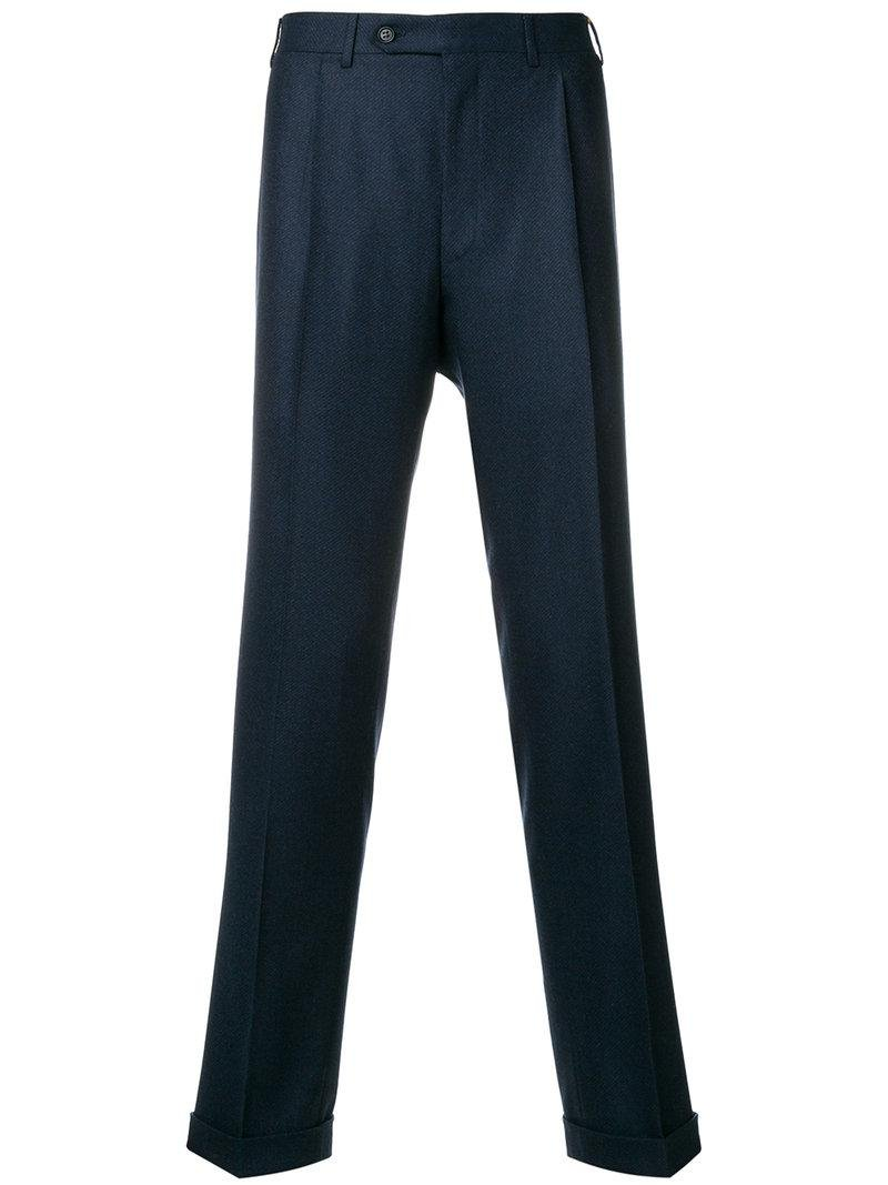 tailored trousers - Blue Canali 28pZIVT
