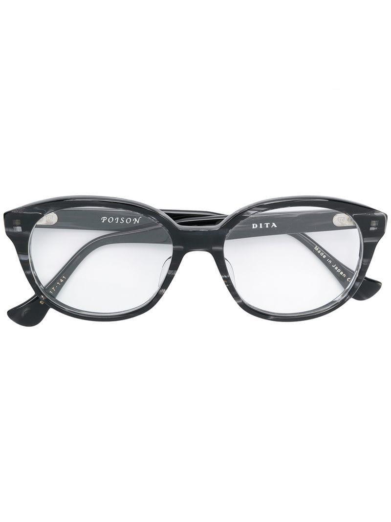 df4e9c2f5996 Dita Eyewear Poison Glasses in Black - Lyst