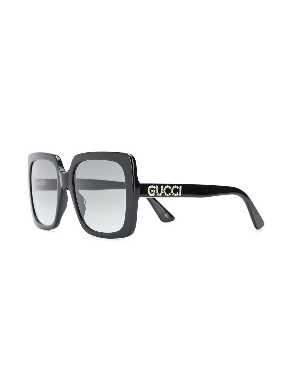 914387c1ac0 Gucci Mass Large Square Sunglasses in Black - Lyst