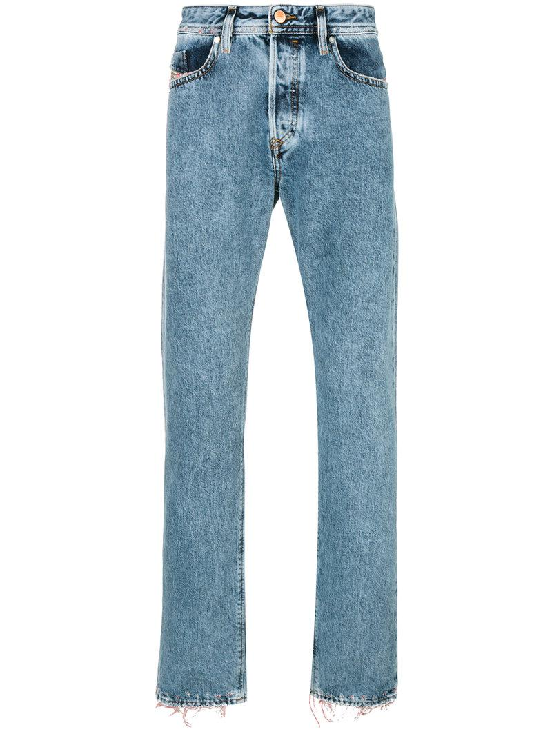 frayed edges jeans - Blue Diesel Good Selling Cheap Online Footaction Online Discount Release Dates hWRtDssJ