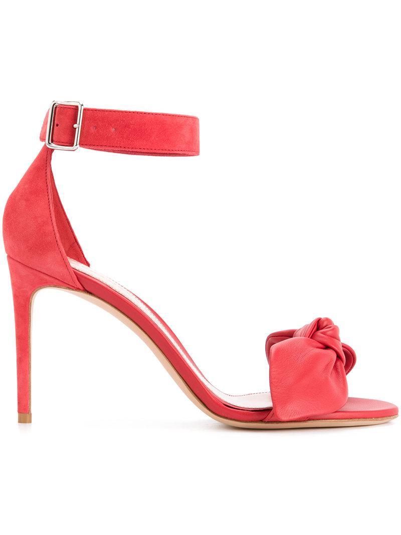 bow detail stiletto sandals - Black Alexander McQueen Oo0ZZr3Qm