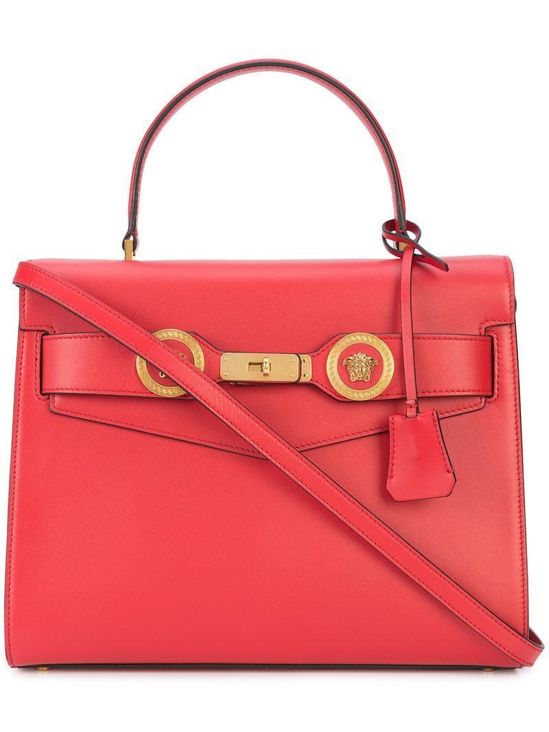 8f6be53541c1 Lyst - Versace Icon Tote in Red