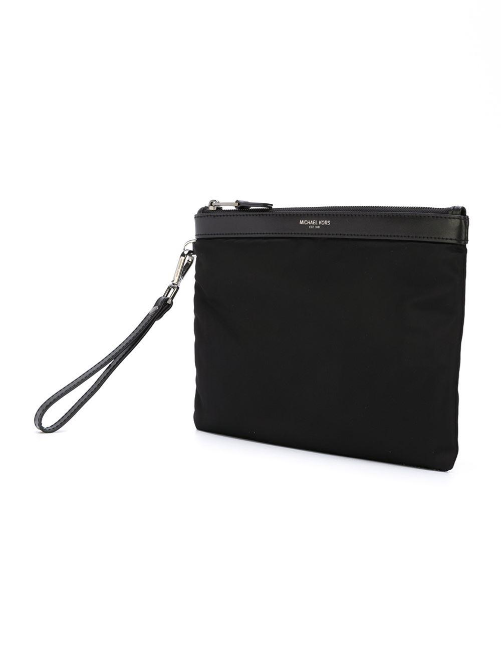 fbdde5134fa5 Michael Kors - Black Wrist Strap Clutch for Men - Lyst. View fullscreen