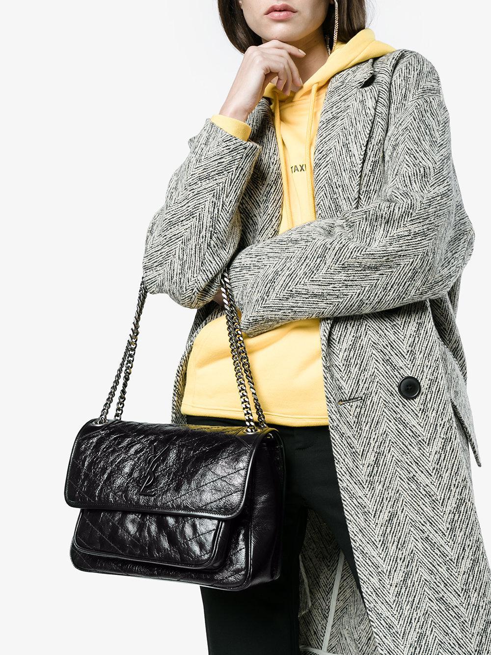 0f64a8a3d31ee Lyst - Saint Laurent Niki Monogram Bag in Black - Save 4%
