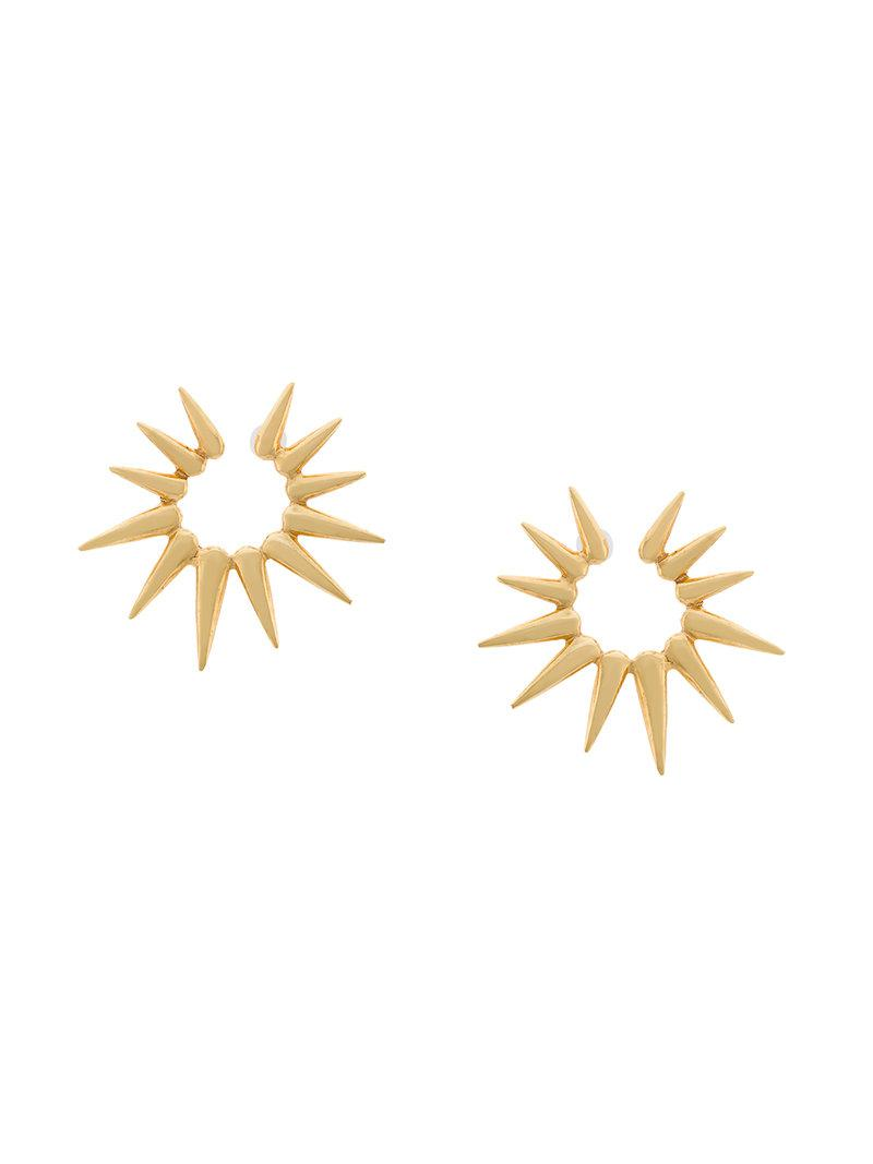 Oscar De La Renta sea urchin small earrings - Metallic S1d0SRz