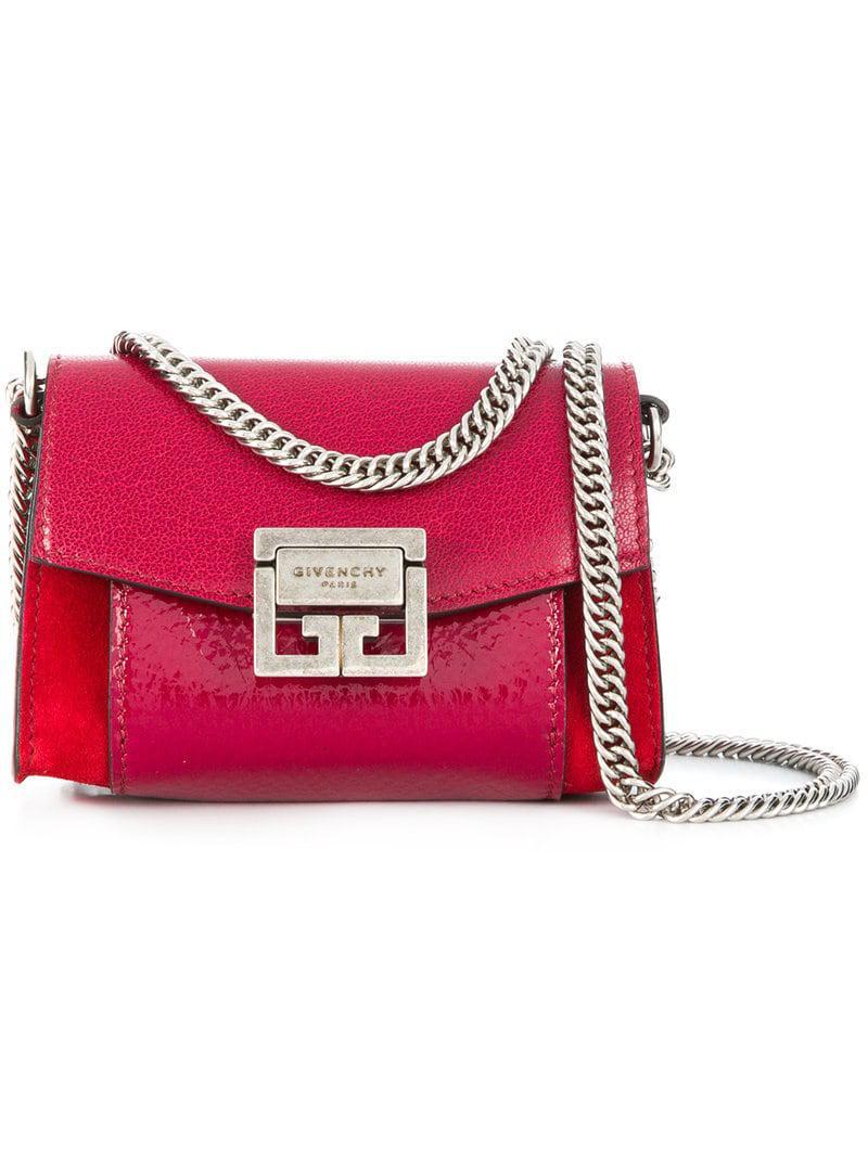 01f3e67e604c Lyst - Givenchy Nano Gv3 Bag in Pink