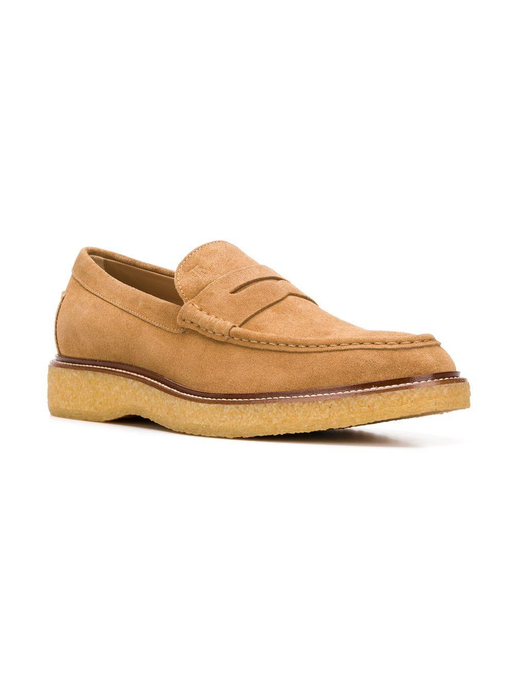 9c5ecdb6a96 Lyst - Tod s Rubber Sole Penny Loafers in Natural for Men