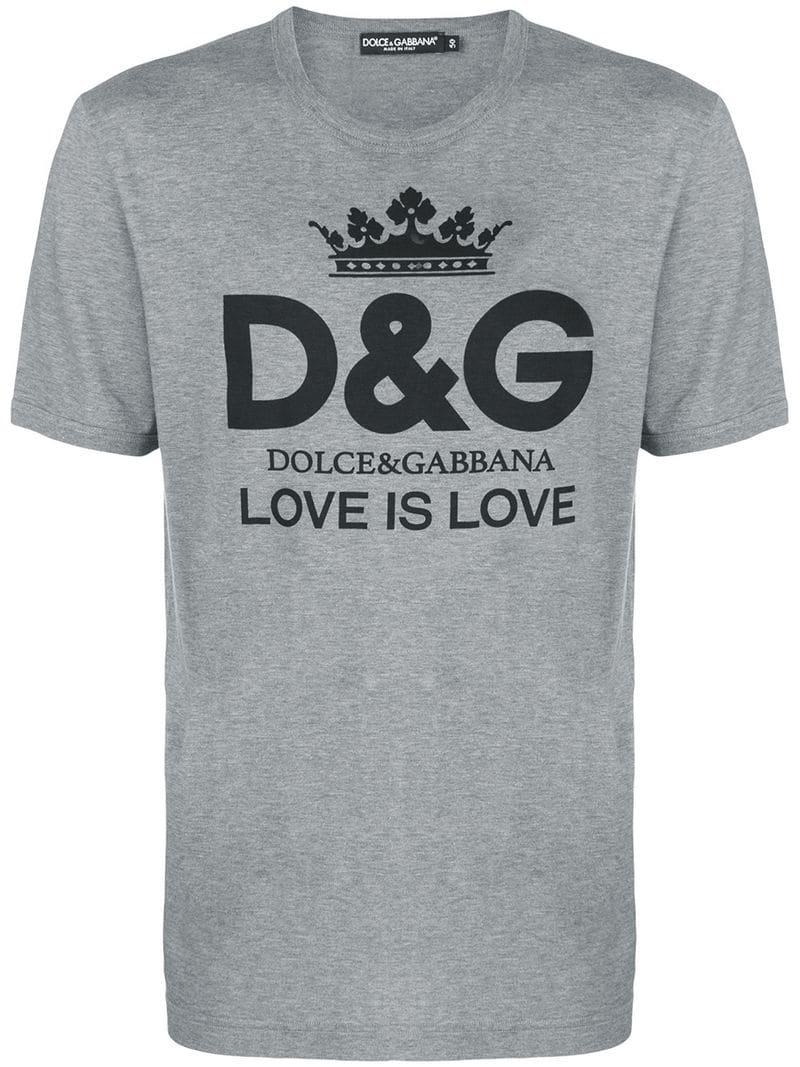 c3f24ccfc Dolce & Gabbana - Gray Logo T-shirt for Men - Lyst. View fullscreen