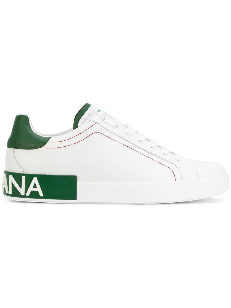 118451f2f1de Dolce   Gabbana Portofino Sneakers in White for Men - Lyst