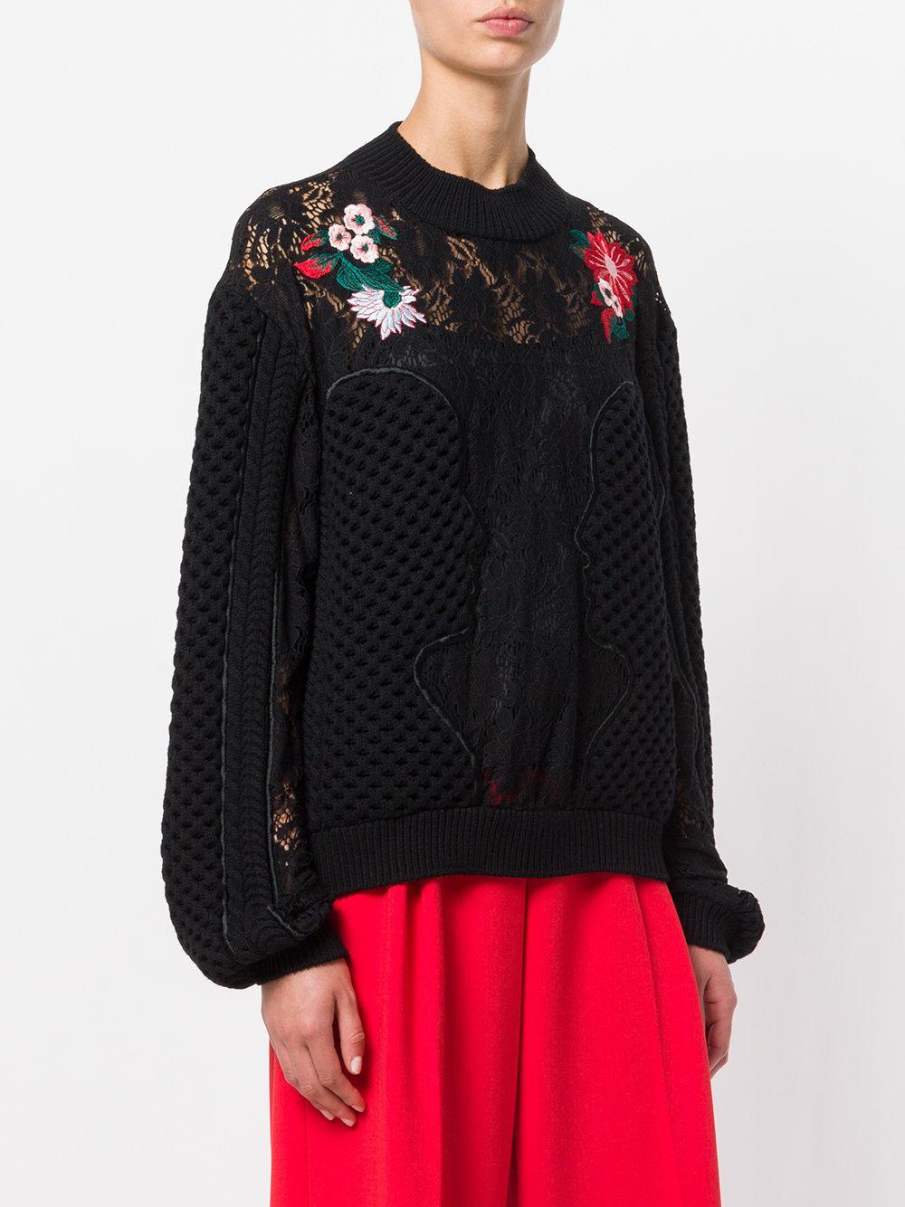 Vivetta embroidered lace jumper Sale Huge Surprise 769nlp018G