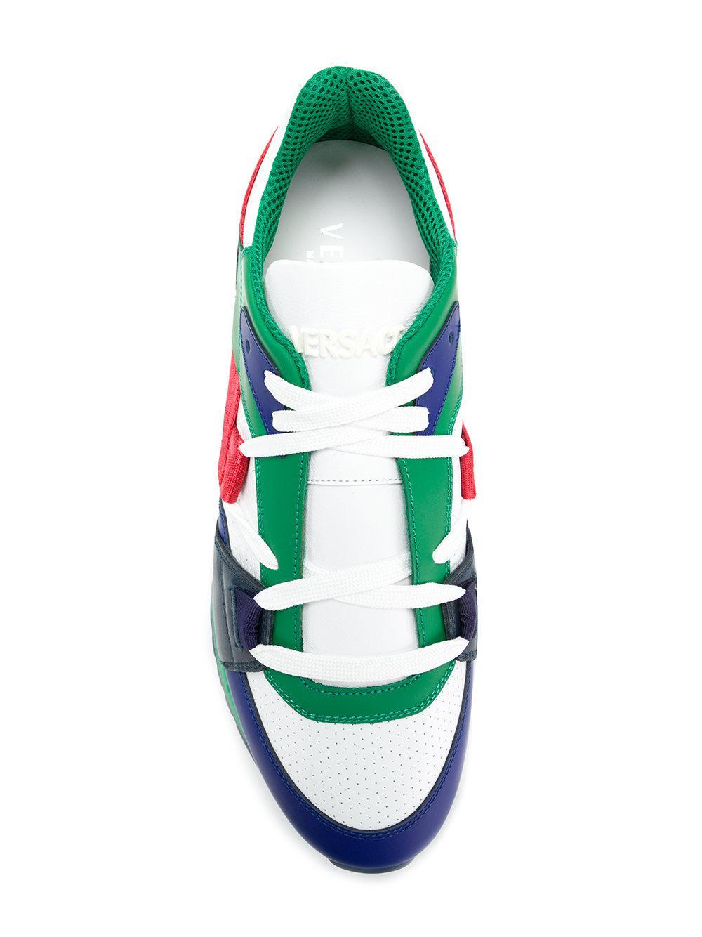 Grecca detail sneakers - Green Versace 1G6crbxU