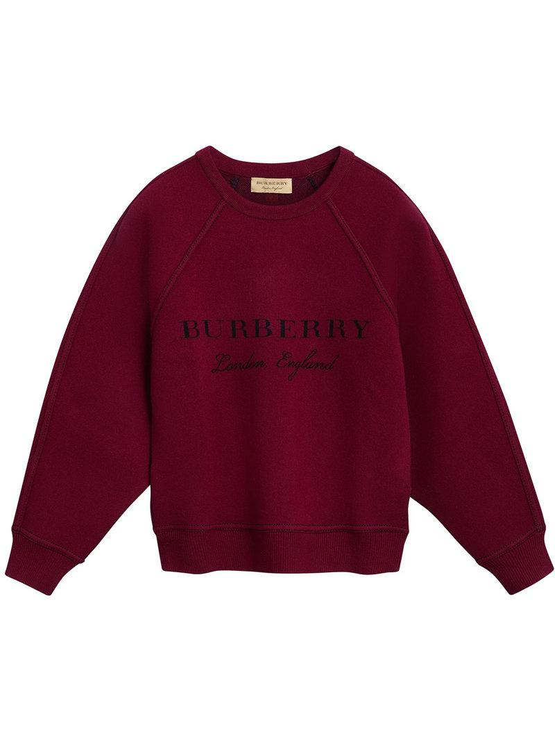logo printed jumper - Red Burberry Free Shipping Big Discount CaZUwADdqF