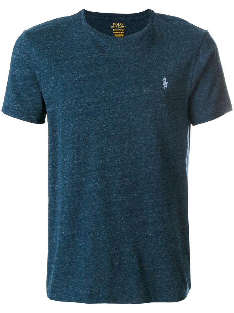 ef06a3ae Polo Ralph Lauren Classic Logo T-shirt in Blue for Men - Lyst