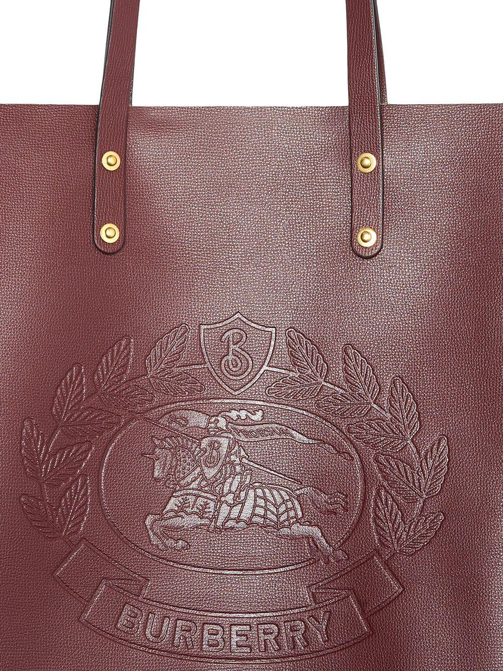 42a3dfa279 Burberry - Multicolor Embossed Crest Leather Tote - Lyst. View fullscreen