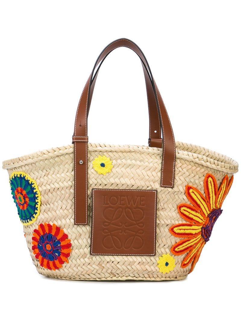 Loewe - Multicolor Woven Tote Bag - Lyst. View fullscreen 5bab93ee7e37c