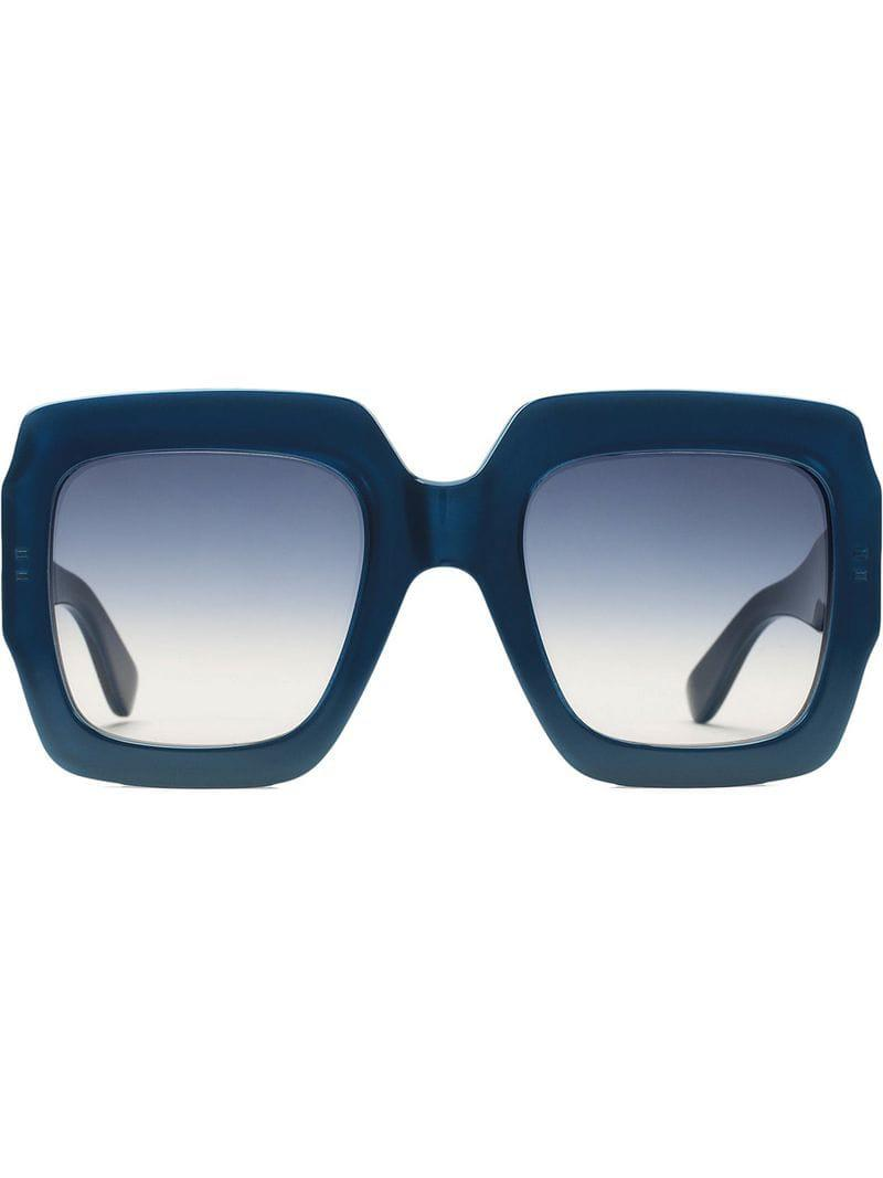 e0e54147d25 Lyst - Gucci Square-frame Sunglasses in Blue - Save 28%