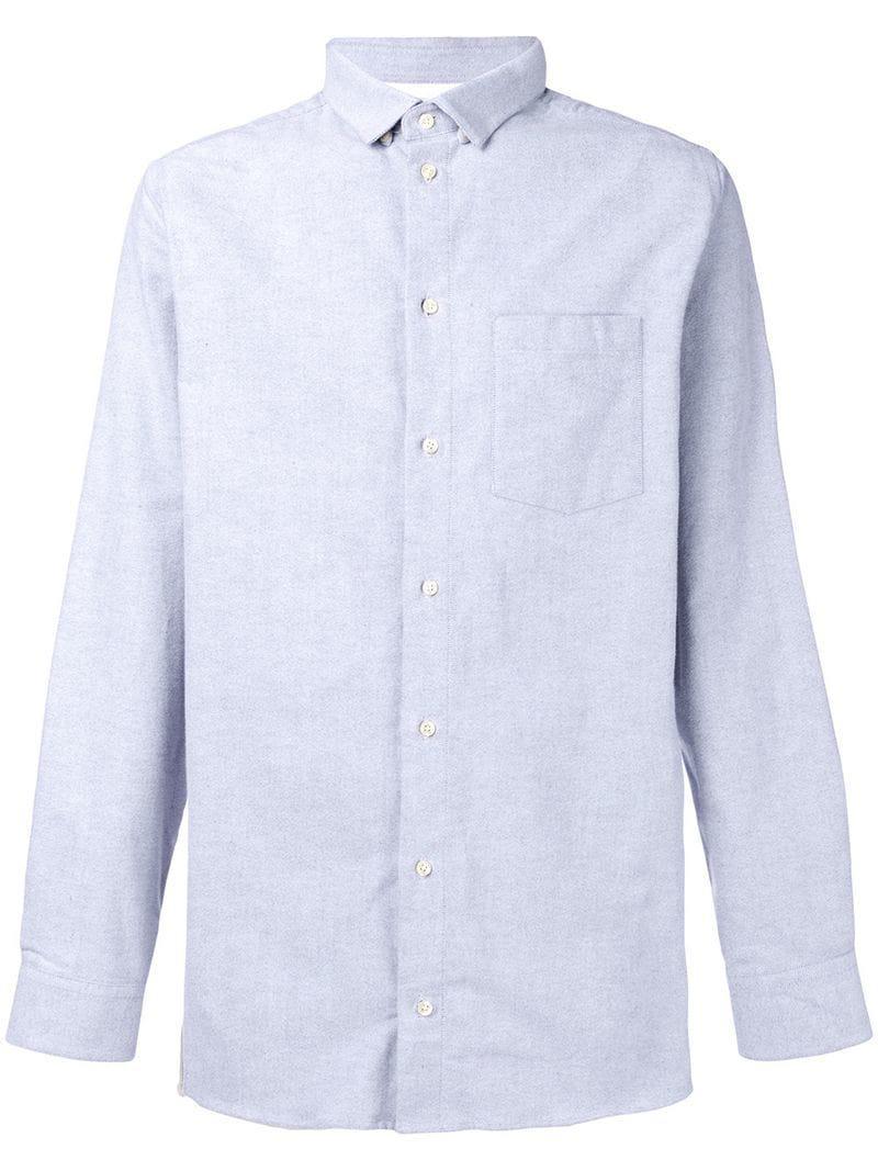 8b2debea Natural Selection Long Pocket Plain Shirt in Gray for Men - Lyst