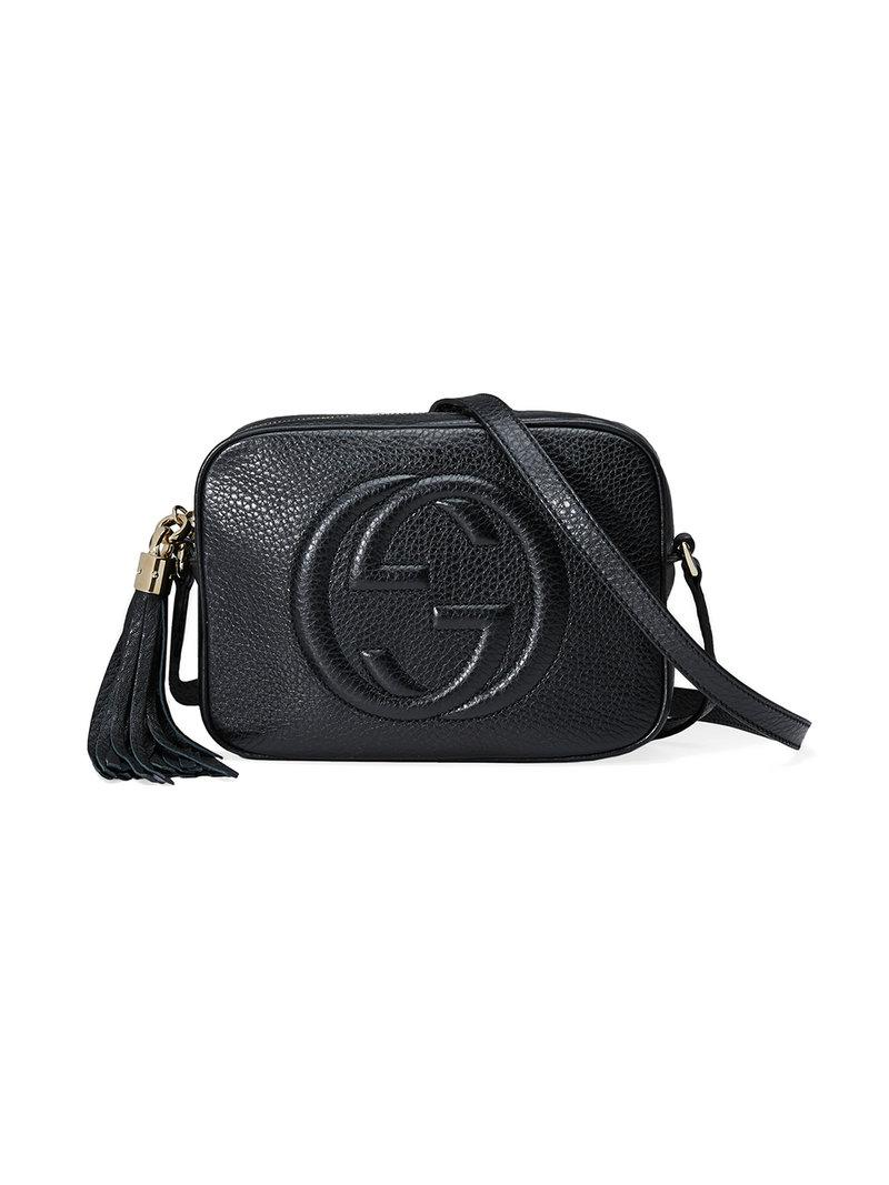 a54be2ec296 Lyst - Gucci Soho Leather Disco Shoulder Bag in Black - Save 18%
