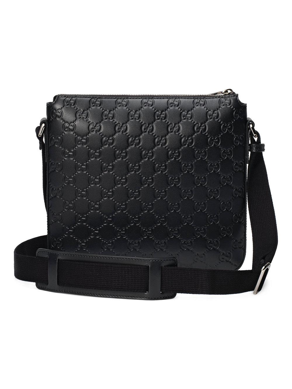1a3bb5c88dd3 Gucci Signature Messenger in Black for Men - Save 41% - Lyst