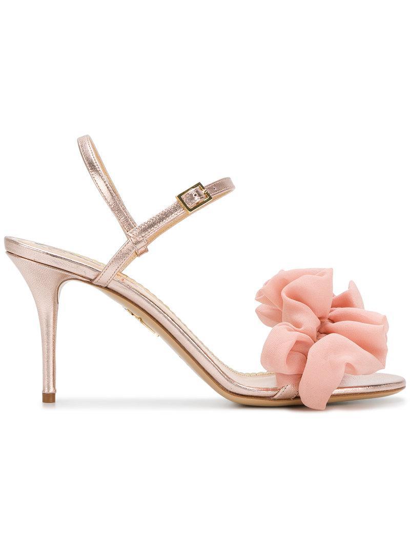 Amazon Aclaramiento Comprar Barato 2018 Nueva Charlotte Olympia Lola sandals - Metallic farfetch rosa Venta Precio Increíble Buena Venta De Salida bZlvXm8NT