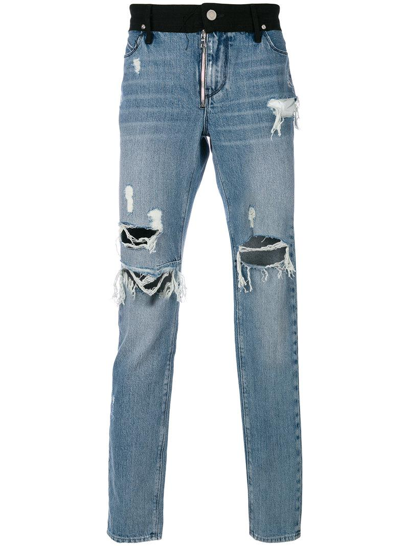b3f584250cc Lyst - RTA Regular Fit Distressed Jeans in Blue for Men